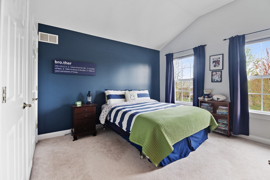 Real Estate Photography - 1650 Constitution, Glenview, IL, 60026 - 2nd Bedroom