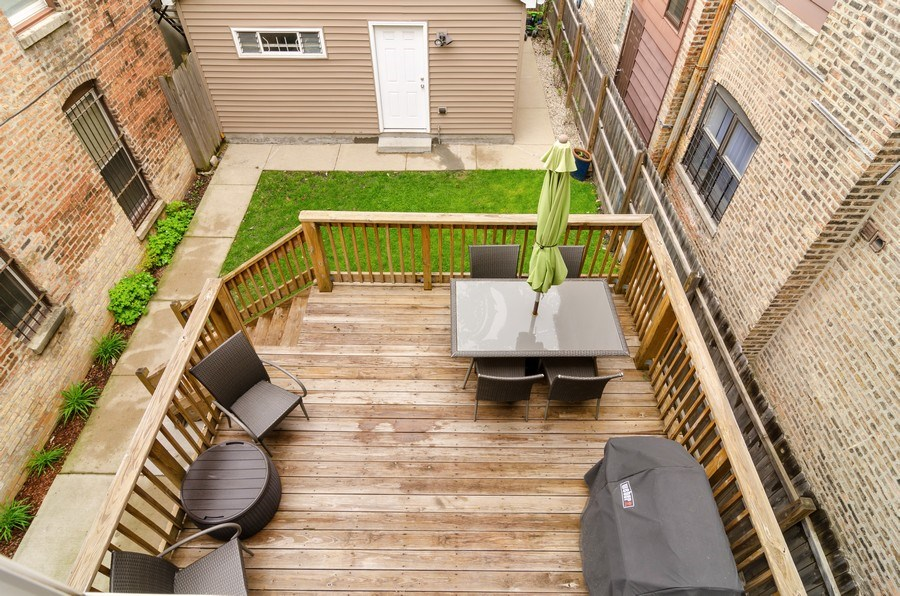 Real Estate Photography - 2236 N Washtenaw Ave, Chicago, IL, 60647 - Deck