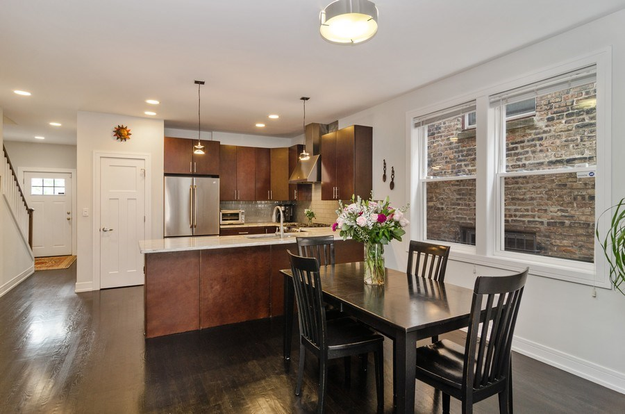 Real Estate Photography - 2236 N Washtenaw Ave, Chicago, IL, 60647 - Kitchen / Dining Room