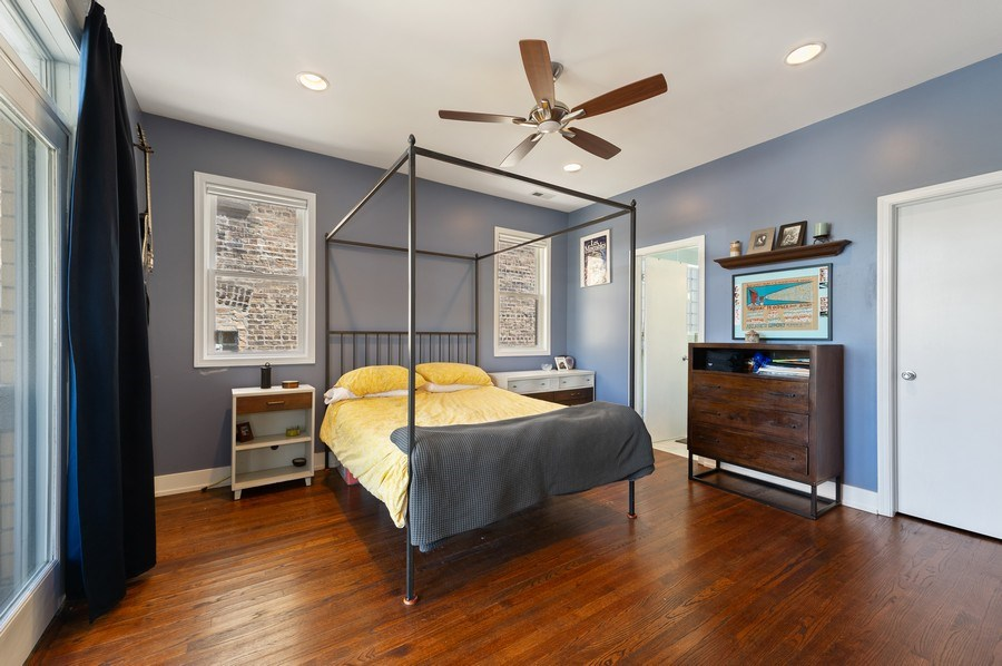 Real Estate Photography - 2146 W Addison, Unit 2, Chicago, IL, 60618 - Master Bedroom