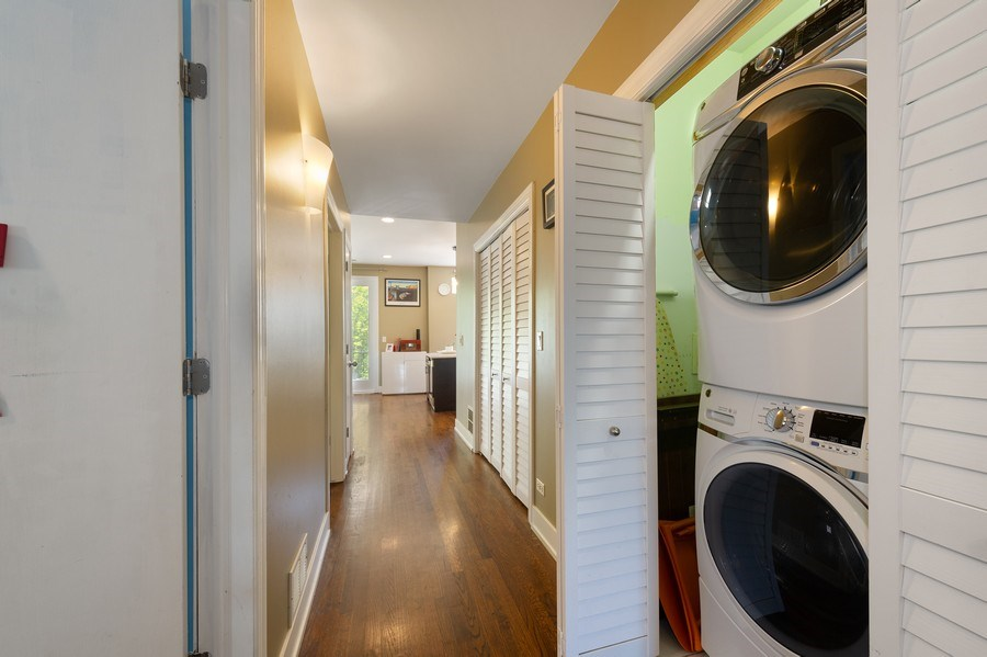 Real Estate Photography - 2146 W Addison, Unit 2, Chicago, IL, 60618 - Laundry Room
