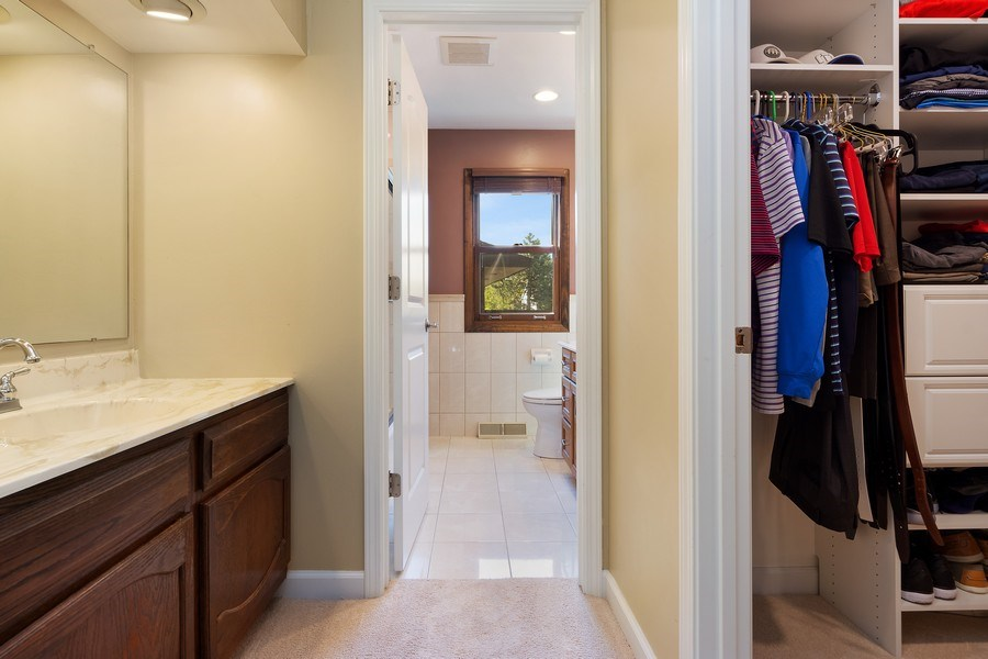 Real Estate Photography - 2123 N. Williamsburg St., Arlington Heights, IL, 60004 - Master Bedroom Dressing Area and Walk-In Closet