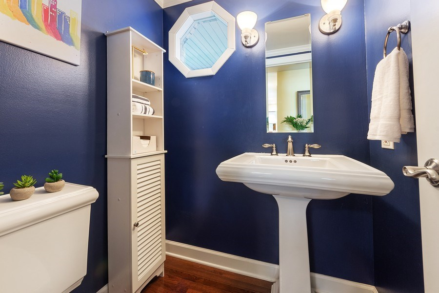 Real Estate Photography - 2123 N. Williamsburg St., Arlington Heights, IL, 60004 - Powder Room