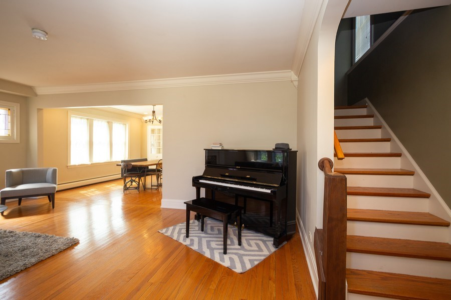 Real Estate Photography - 11 Gillick, Park Ridge, IL, 60068 - Living Room / Dining Room