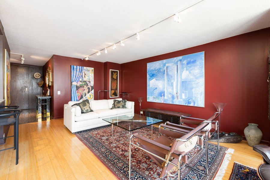 Real Estate Photography - 360 E RandolphSt., #3305, Chicago, IL, 60601 - Living Room