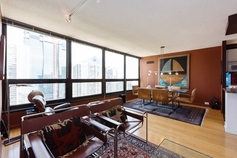 Real Estate Photography - 360 E RandolphSt., #3305, Chicago, IL, 60601 - Living Room / Dining Room