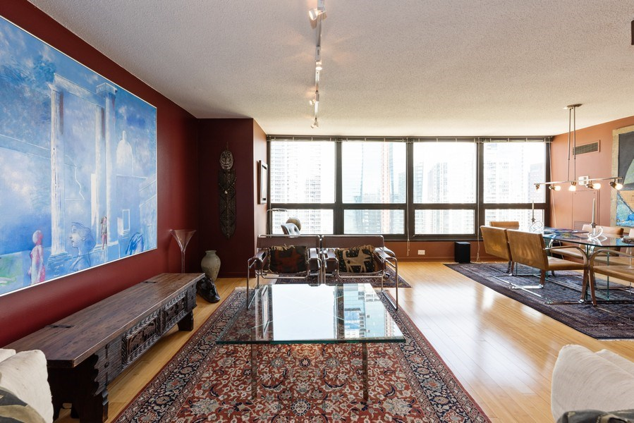 Real Estate Photography - 360 E RandolphSt., #3305, Chicago, IL, 60601 - Living Room/Dining Room
