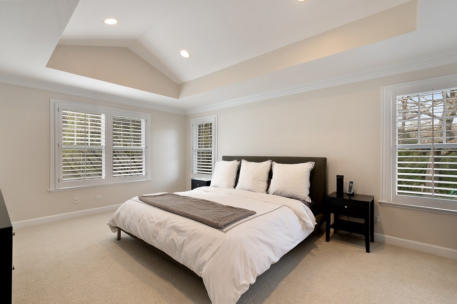Real Estate Photography - 991 Marion, Highland Park, IL, 60035 - Master Bedroom