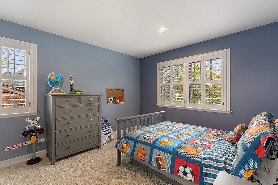 Real Estate Photography - 991 Marion, Highland Park, IL, 60035 - 4th Bedroom