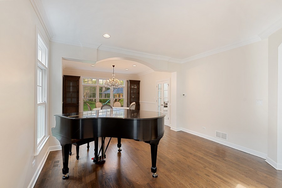 Real Estate Photography - 991 Marion, Highland Park, IL, 60035 - Living Room / Dining Room