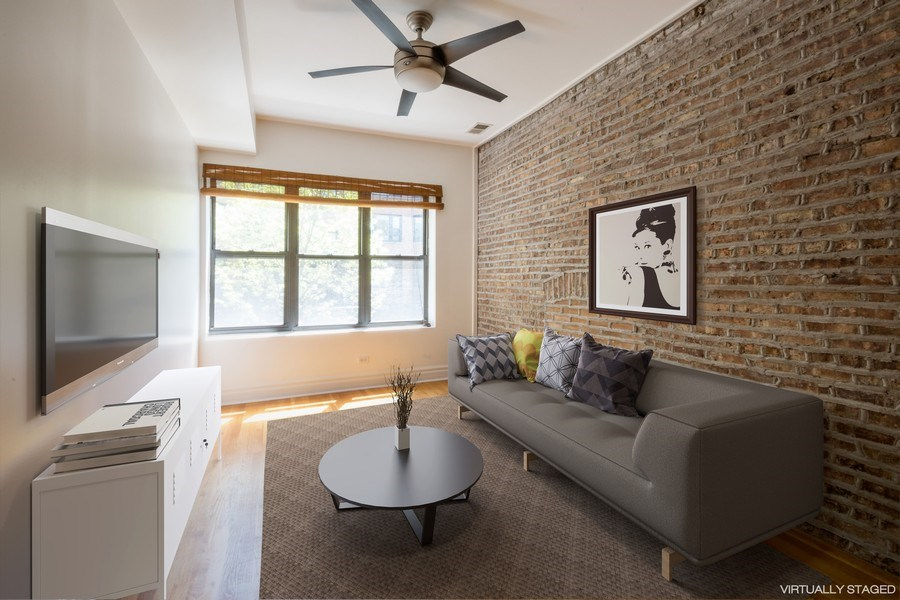 Real Estate Photography - 1352 W Bryn Mawr Ave., #1, Chicago, IL, 60660 - Living Room