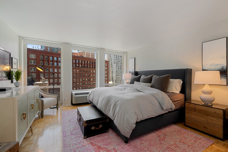 Real Estate Photography - 111 E Chestnut, #11J, Chicago, IL, 60611 - Bedroom