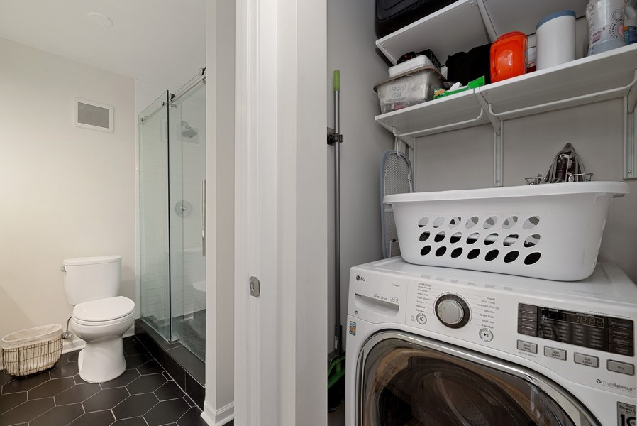 Real Estate Photography - 111 E Chestnut, #11J, Chicago, IL, 60611 - Laundry Room