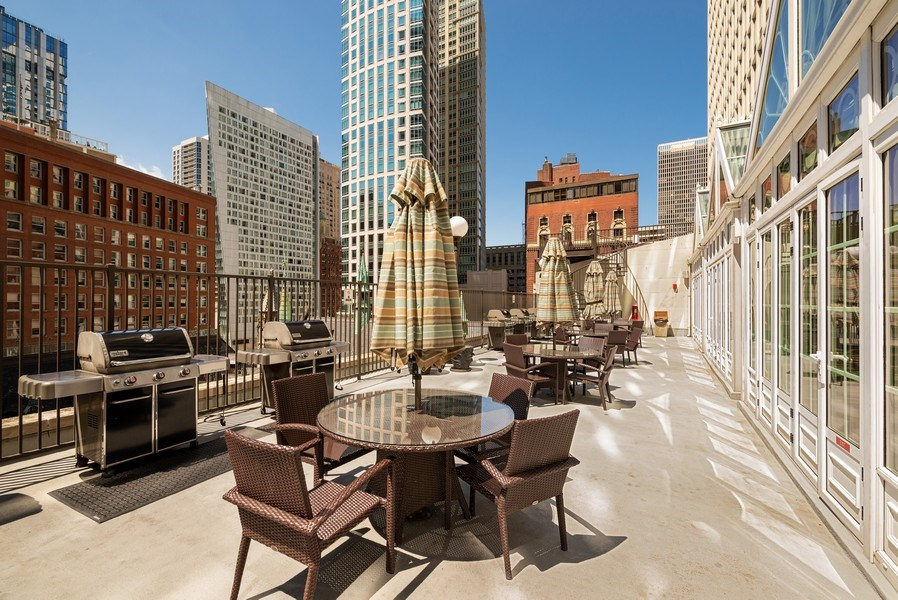 Real Estate Photography - 111 E Chestnut, #11J, Chicago, IL, 60611 - Patio