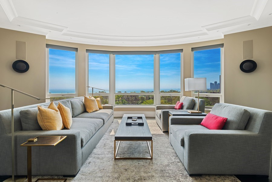 Real Estate Photography - 2550 N Lakeview Ave, Unit S1201, Chicago, IL, 60614 - Living Room