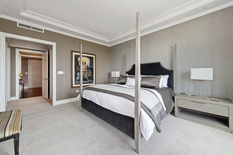 Real Estate Photography - 2550 N Lakeview Ave, Unit S1201, Chicago, IL, 60614 - Master Bedroom