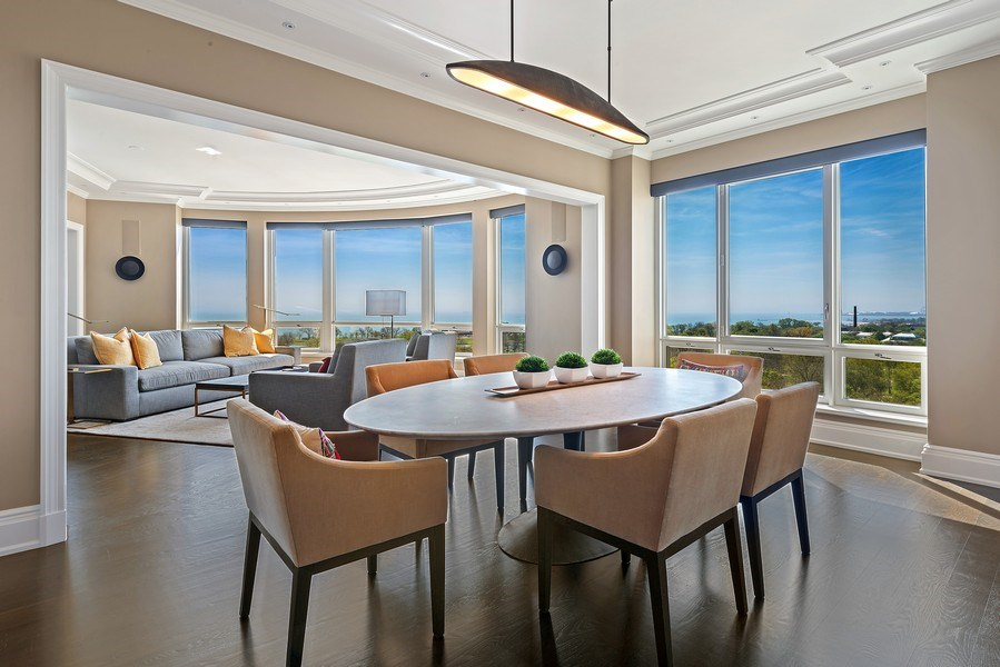 Real Estate Photography - 2550 N Lakeview Ave, Unit S1201, Chicago, IL, 60614 - Dining Room