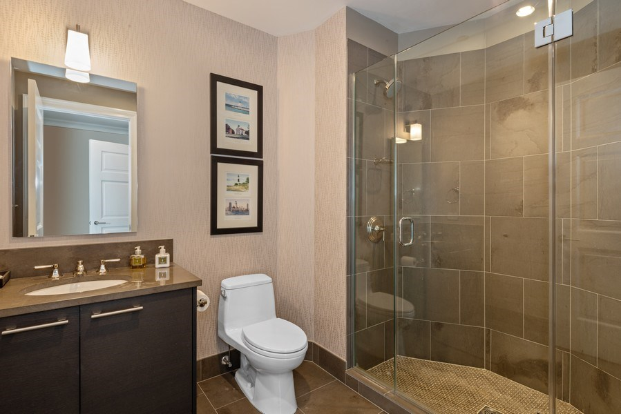 Real Estate Photography - 2550 N Lakeview Ave, Unit S1201, Chicago, IL, 60614 - 2nd Bathroom