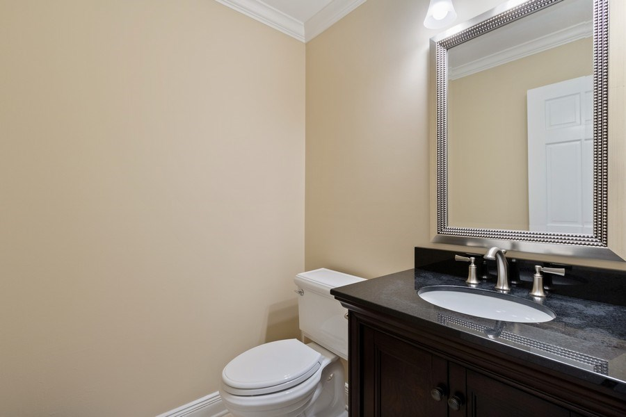 Real Estate Photography - 1570 Everett, Lake Forest, IL, 60045 - Powder Room