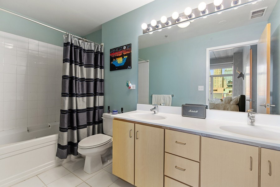 Real Estate Photography - 630 N Franklin St, 809, Chicago, IL, 60654 - Master Bathroom