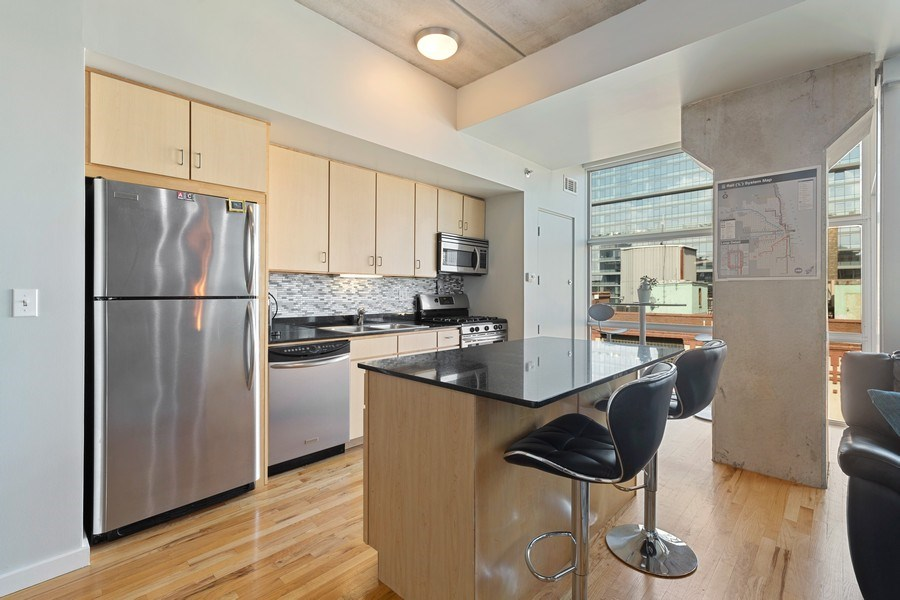 Real Estate Photography - 630 N Franklin St, 809, Chicago, IL, 60654 - Kitchen