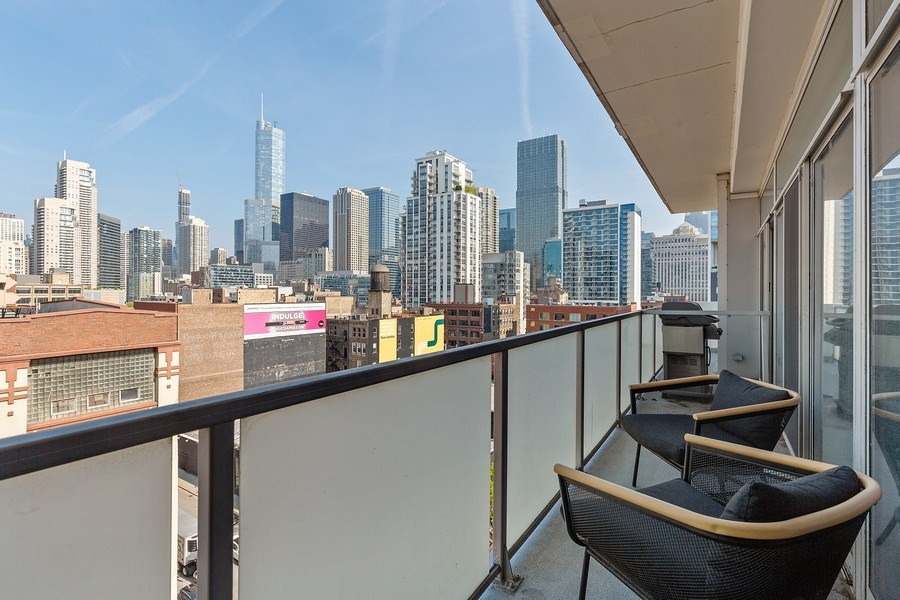 Real Estate Photography - 630 N Franklin St, 809, Chicago, IL, 60654 - Balcony