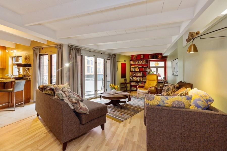 Real Estate Photography - 1864 Sherman, Unit 6NE, Evanston, IL, 60201 - Living Room