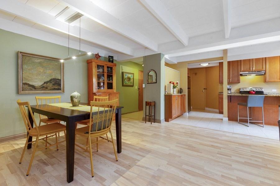 Real Estate Photography - 1864 Sherman, Unit 6NE, Evanston, IL, 60201 - Kitchen / Dining Room