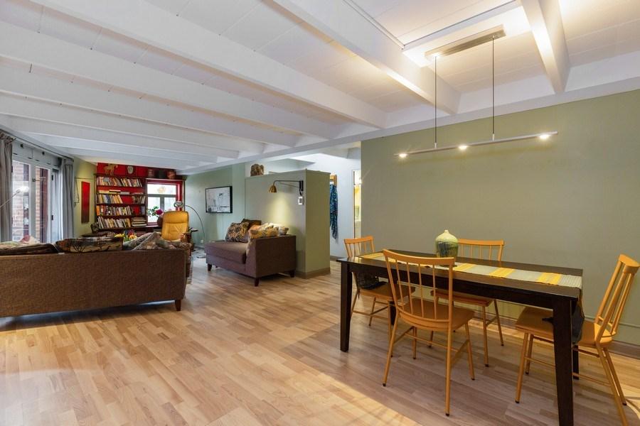 Real Estate Photography - 1864 Sherman, Unit 6NE, Evanston, IL, 60201 - Living Room / Dining Room