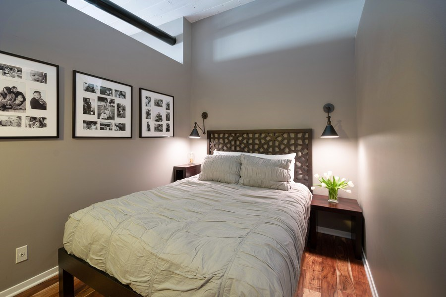 Real Estate Photography - 621 S Plymouth, Unit 602, Chicago, IL, 60605 - Bedroom