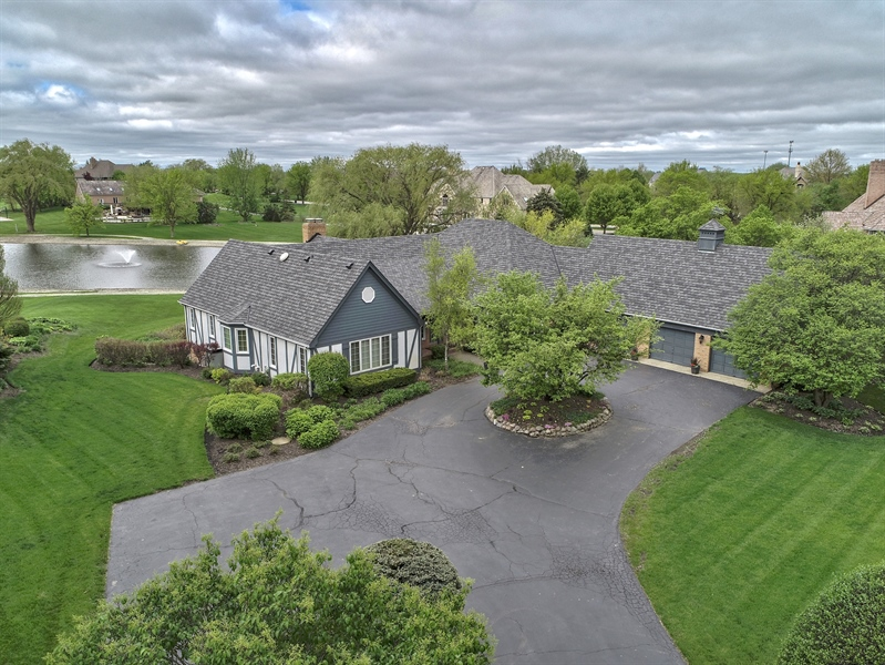 Real Estate Photography - 7 Westlake Dr, South Barrington, IL, 60010 - Aerial View
