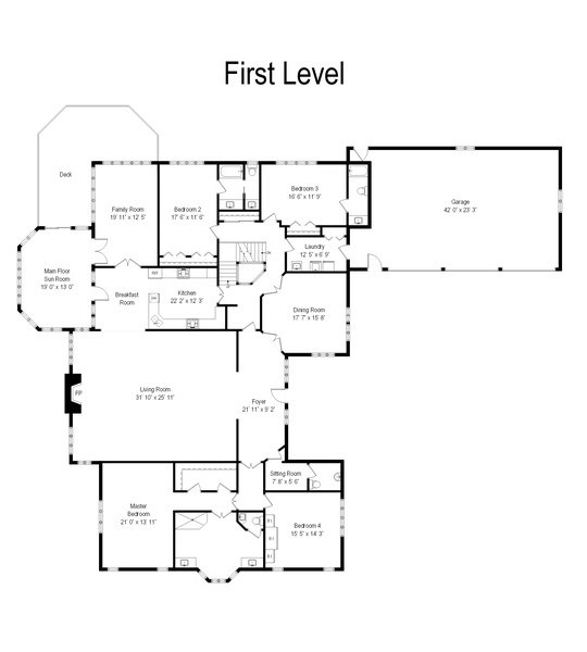 Real Estate Photography - 7 Westlake Dr, South Barrington, IL, 60010 - Floor Plan
