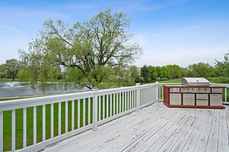 Real Estate Photography - 7 Westlake Dr, South Barrington, IL, 60010 - Deck