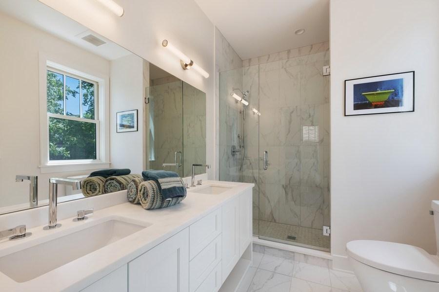 Real Estate Photography - 555 Michigan Ave, Unit 2, Evanston, IL, 60202 - Master Bathroom