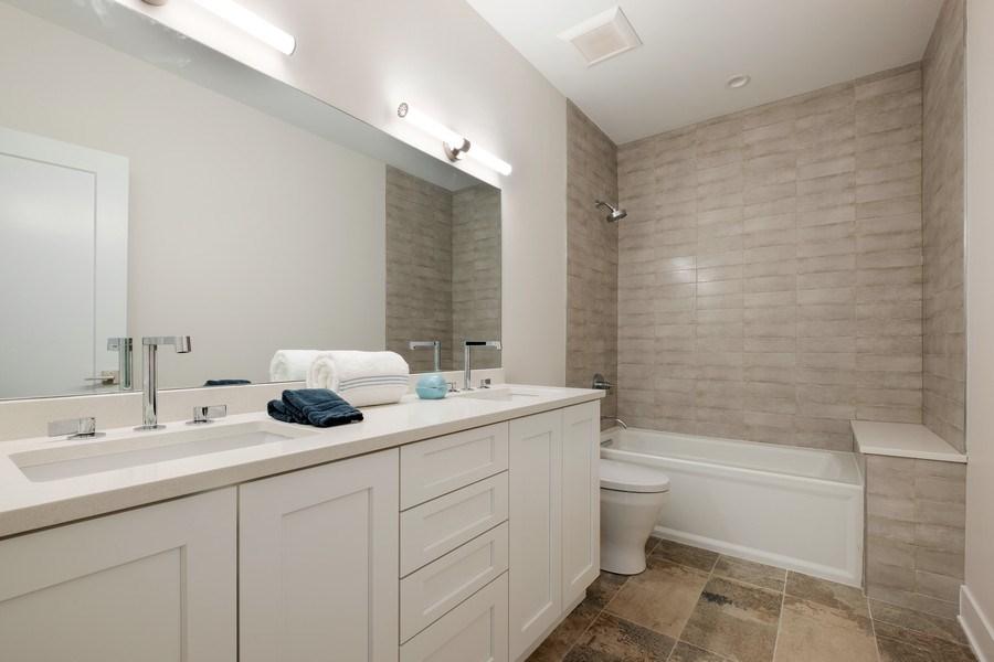 Real Estate Photography - 555 Michigan Ave, Unit 2, Evanston, IL, 60202 - 2nd Bathroom