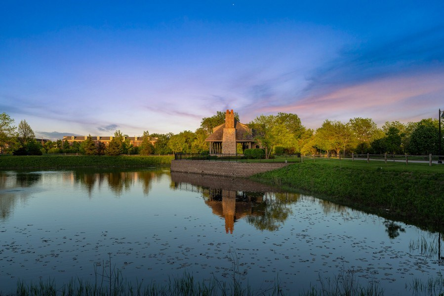 Real Estate Photography - 2200 Fielding, Glenview, IL, 60026 - Serene pond views