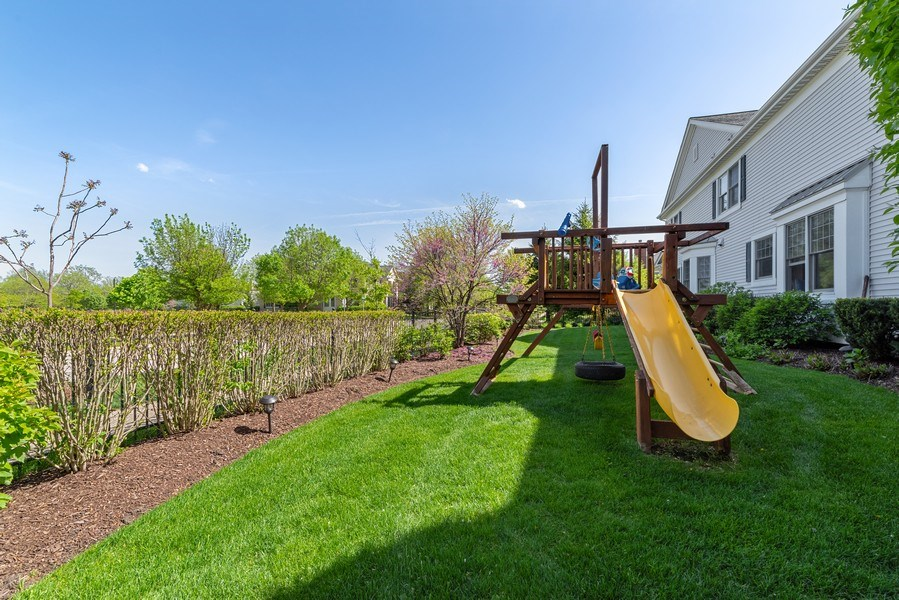 Real Estate Photography - 2200 Fielding, Glenview, IL, 60026 - Oversized lot with swing set