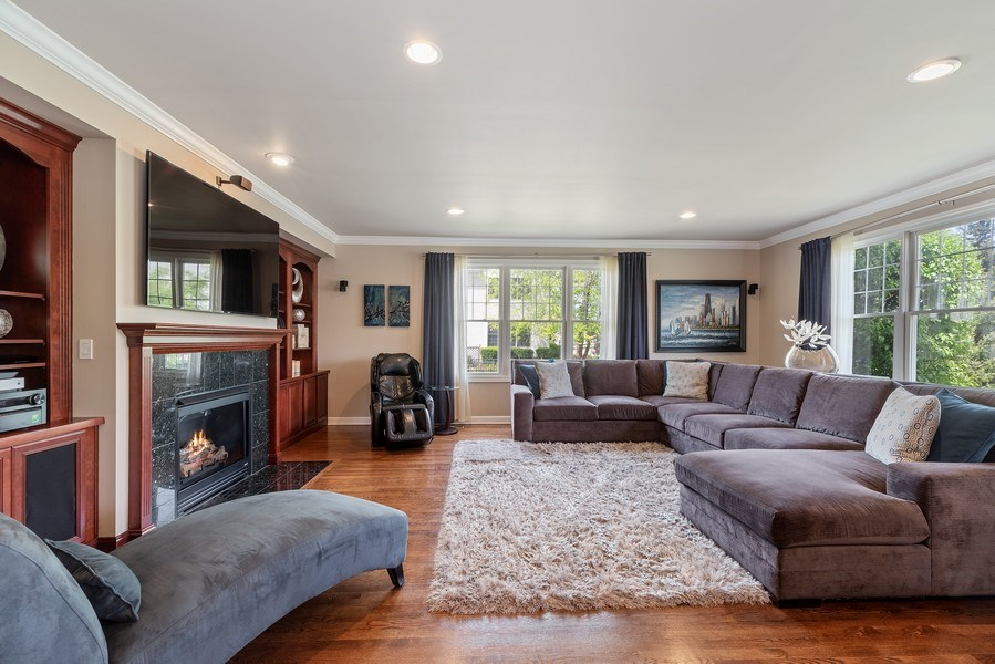 Real Estate Photography - 2200 Fielding, Glenview, IL, 60026 - Family Room