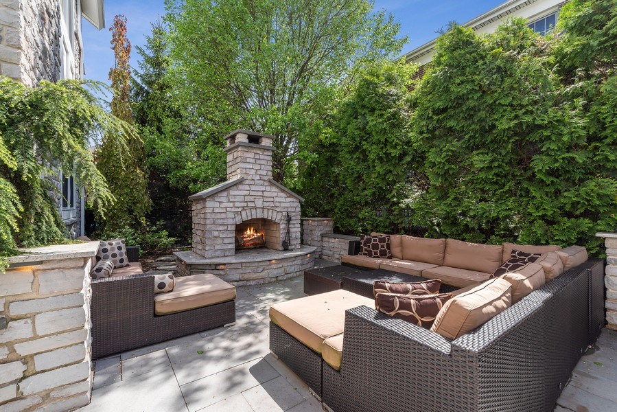 Real Estate Photography - 2200 Fielding, Glenview, IL, 60026 - Exterior Living Room perfect for large gatherings