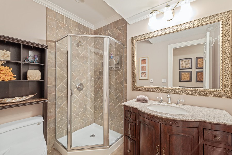Real Estate Photography - 2200 Fielding, Glenview, IL, 60026 - Lower Level Bathroom