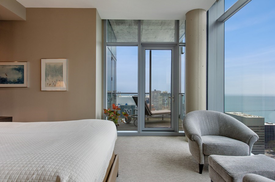 Real Estate Photography - 600 N Fairbanks Ct, PH3801, Chicago, IL, 60611 - Serene Master Suite with Panoramic Lake Views