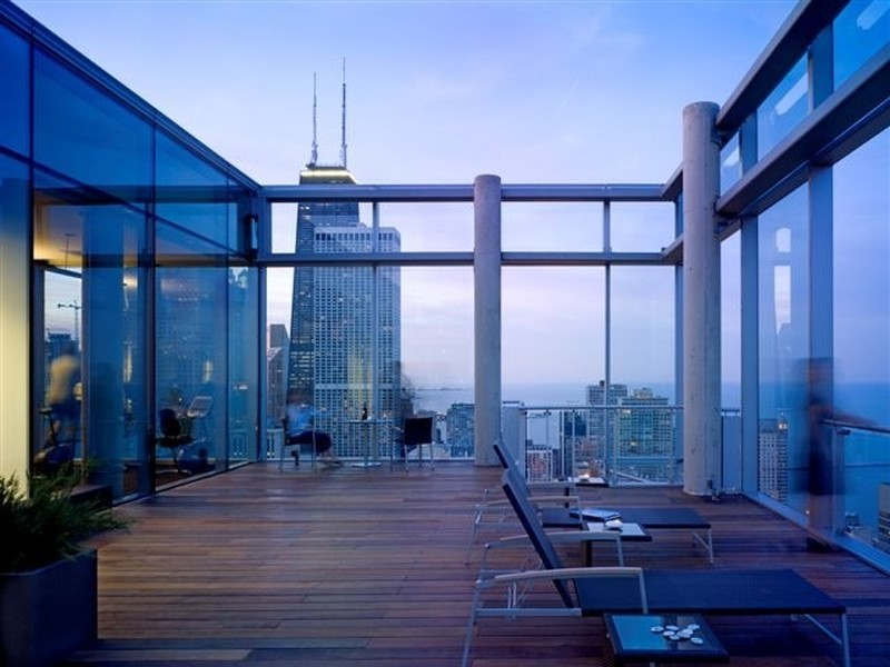 Real Estate Photography - 600 N Fairbanks Ct, PH3801, Chicago, IL, 60611 - Recently Updated Rooftop Deck