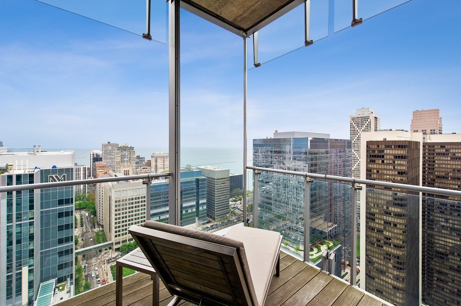 Real Estate Photography - 600 N Fairbanks Ct, PH3801, Chicago, IL, 60611 - Balcony