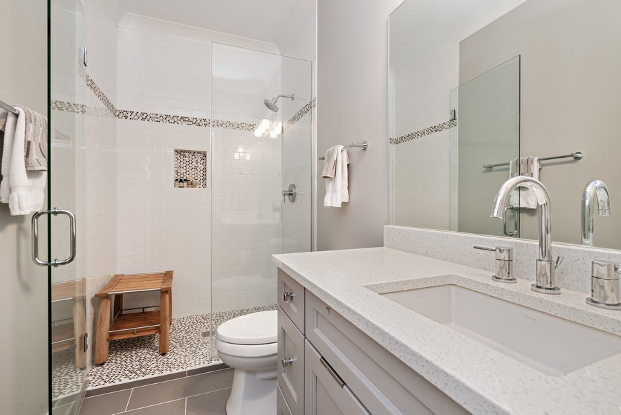 Real Estate Photography - 1734 W. Henderson St., Chicago, IL, 60657 - 3rd Bathroom