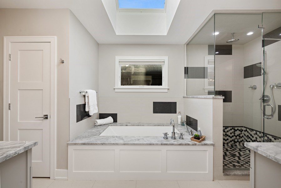 Real Estate Photography - 1734 W. Henderson St., Chicago, IL, 60657 - Master Bathroom
