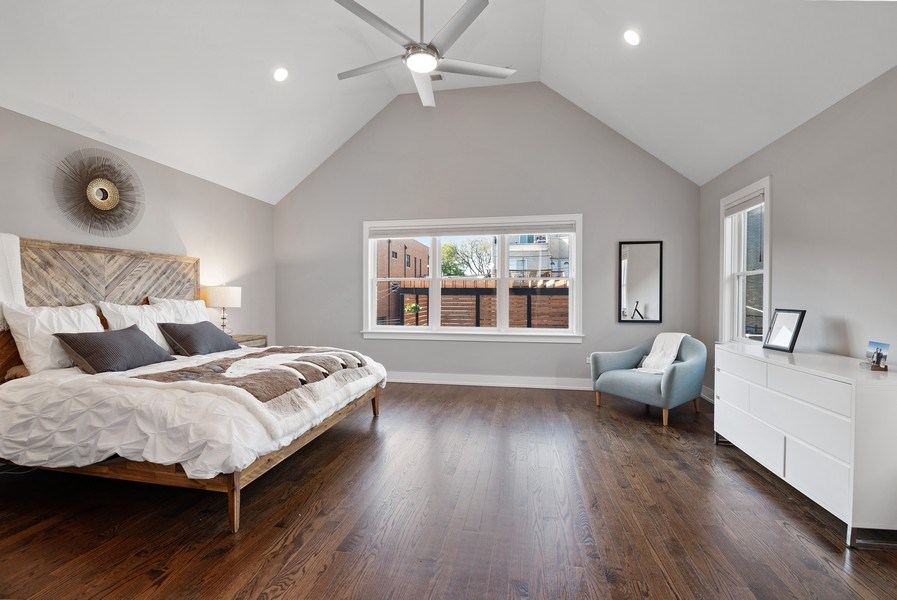 Real Estate Photography - 1734 W. Henderson St., Chicago, IL, 60657 - Master Bedroom
