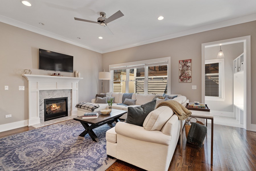Real Estate Photography - 1734 W. Henderson St., Chicago, IL, 60657 - Family Room
