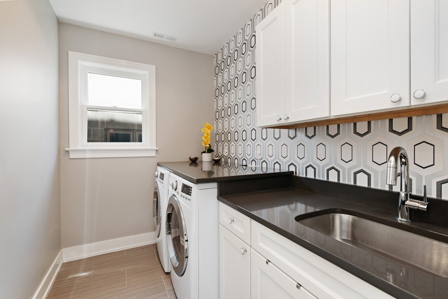 Real Estate Photography - 1734 W. Henderson St., Chicago, IL, 60657 - Laundry Room