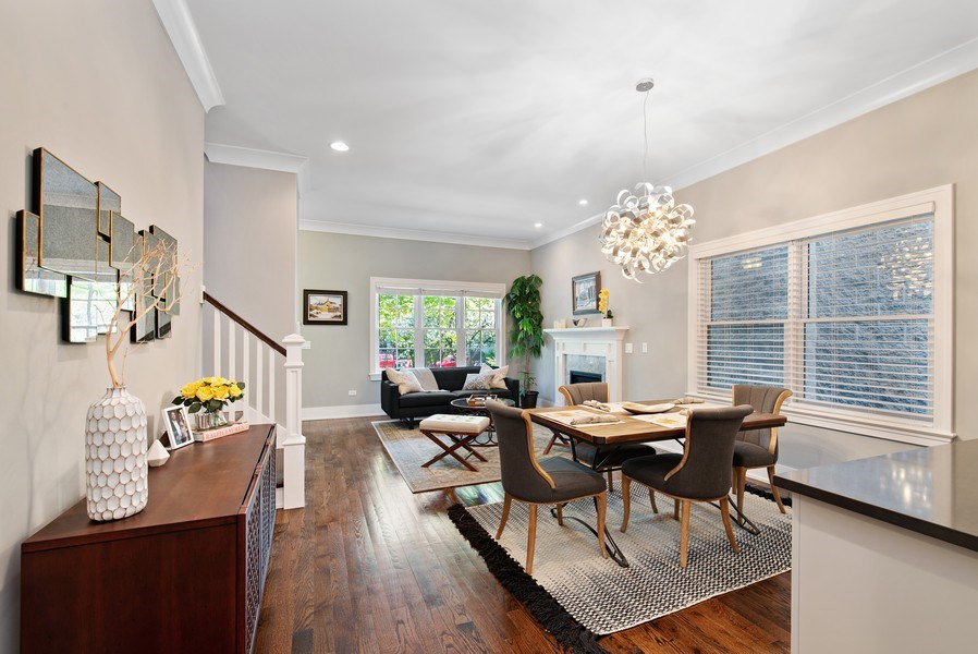 Real Estate Photography - 1734 W. Henderson St., Chicago, IL, 60657 - Living Room/Dining Room