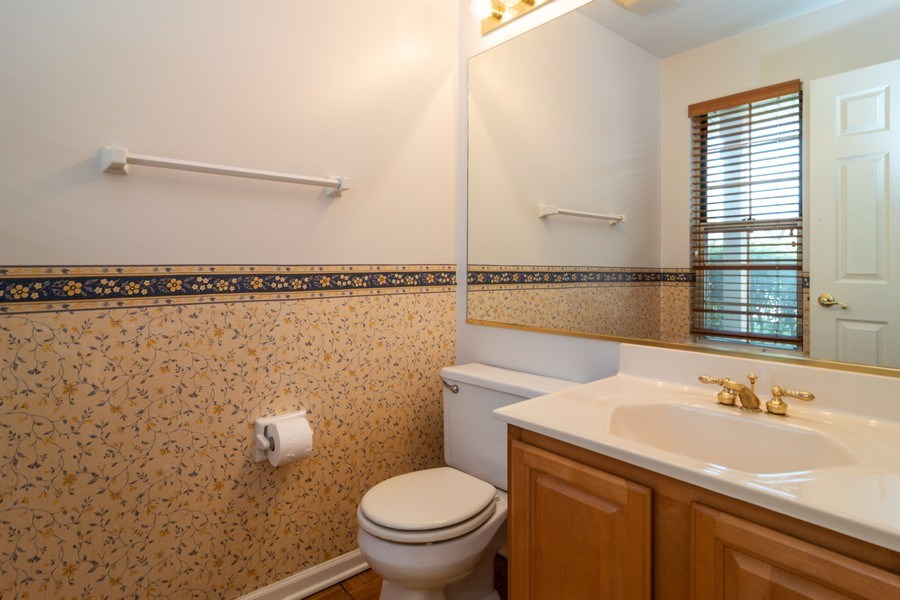 Real Estate Photography - 11413 Enterprise Dr, Westchester, IL, 60154 - Half Bath on Main Level